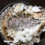 ダッチオーブンで正月料理 鯛の塩釜焼き